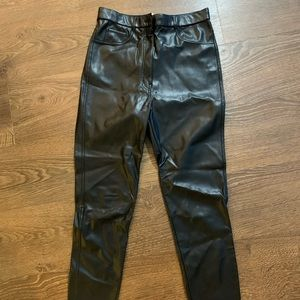 Aritzia Wilfred Free leather pants
